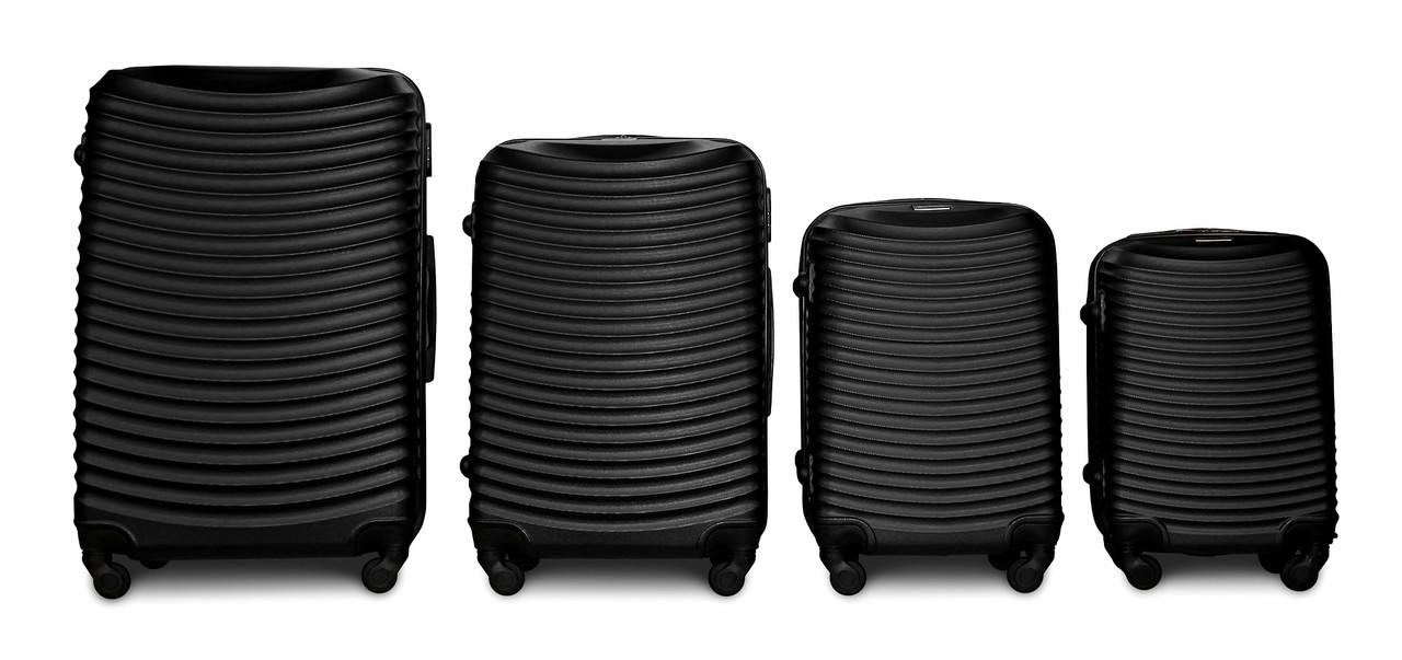 Набор чемоданов 4 штуки в 1 Fly 1053 на 4 колесах Черный
