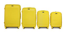 Набор чемоданов 4 штуки в 1 Fly 1093 на 4 колесах Желтый
