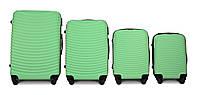 Набор чемоданов 4 штуки в 1 Fly 1053 на 4 колесах Мятный, фото 1