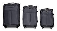 Набор чемоданов 3 штуки в 1 Fly 1807 на 4 колесах Темно-серый, фото 1