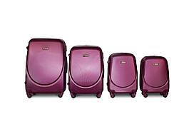 Набор чемоданов 4 штуки в 1 Fly K310 на 4 колесах Двойной фиолетовый