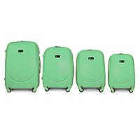 Набор чемоданов 4 штуки в 1 Fly K310 на 4 колесах Мятный