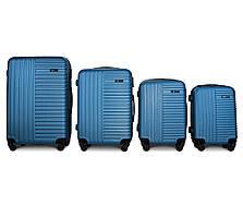 Набор чемоданов 4 штуки в 1 Fly 1096 на 4 колесах Морская волна