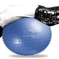 М'яч для фітнеса і гімнастики фітбол PowerPlay 4003 65см голубий