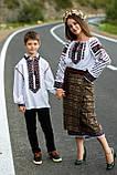 Красива вишита жіноча сорочка білого кольору із пишними довгими рукавами «Дзвунка», фото 9