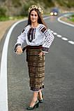 Красива вишита жіноча сорочка білого кольору із пишними довгими рукавами «Дзвунка», фото 10