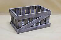 Ящик декоративный ДЯС-2 КОРИЧНЕВО-БЕЛЫЙ (средний, прямоугольный)