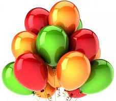 Набір повітряних кульок на Новий Рік 05 (25 см - 21 шт)