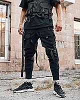 Брюки карго мужские Пушка Огонь Gata черные, фото 1