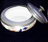 Старовинна цукорниця, олово, порцеляна, клеймо, Франція (до 1927 р.), фото 2