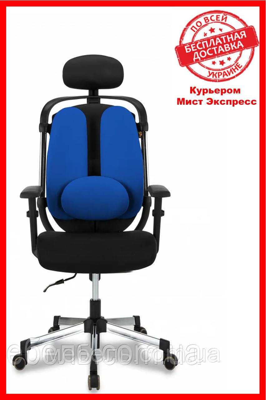 Кресло для работы дома Barsky ER-04 Ergonomic black, кресло из ткани, черный / синий