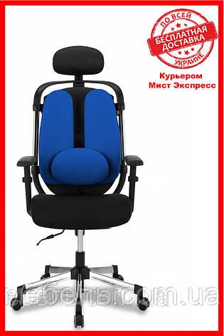 Кресло для работы дома Barsky ER-04 Ergonomic black, кресло из ткани, черный / синий, фото 2