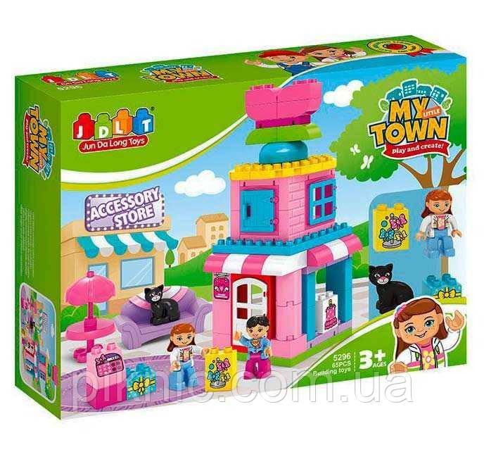 Конструктор Магазин аксессуаров для девочек от 3 лет, 65 дет, 2 фигурки Детский игровой набор