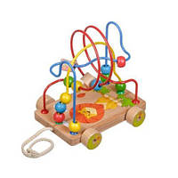 """Деревянный лабиринт-каталка """"Львёнок"""", деревянные игрушки,деревянные игрушки развивающие,сотер,игрушки для"""