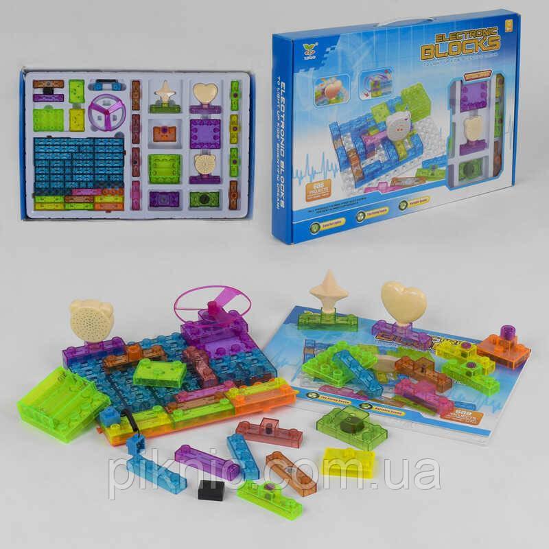Конструктор электронный для детей от 8 лет, 66 деталей, 688 схем, подсветка Набор 2963