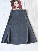 Кашемировая серая юбка женская миди biaumax, размер l