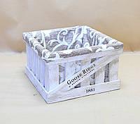 Ящик декоративный с чехлом ДЯС-3 (средний, квадратный)