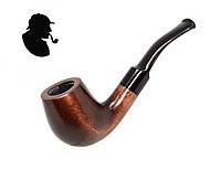Курительная трубка KAF229 Шерлокa Холмса Bent Volcano из дерева груши под фильтр 9 мм