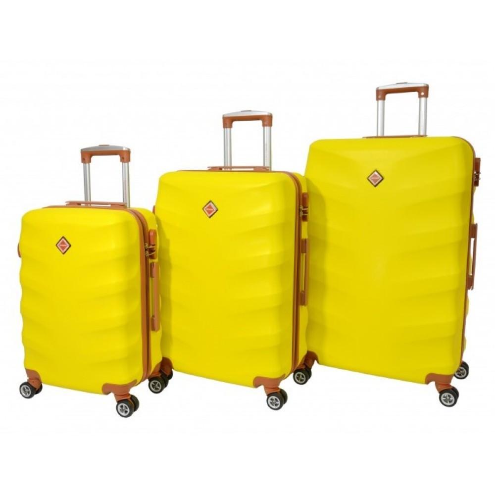 Чемодан Bonro Next набор 3 шт. желтый