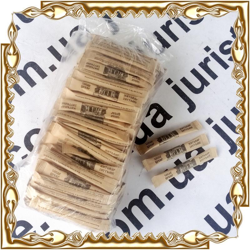 Сахар в стиках  крафт 5 гр. (200 шт./уп.) Бренд. (под большие объёмы цена обговаривается)
