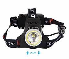 Налобный фонарь WD-112, T6+COB, Zoom, фото 3