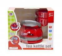 Чайник со звуком и паром, XIONG CHENG, игрушки для девочек,дитяча кухня,Игрушечный набор посуды