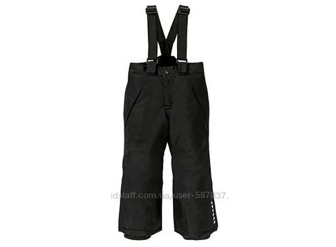 Лыжные черные штаны Crivit р.86/92см