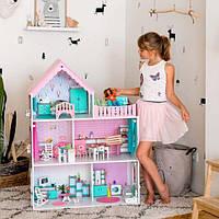 """""""Вилла Виктория"""" Кукольный домик NestWood LOL/OMG/Барби, без мебели, МДФ, розовый"""