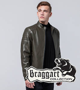 Braggart Youth | Куртка экокожа 4129 хаки