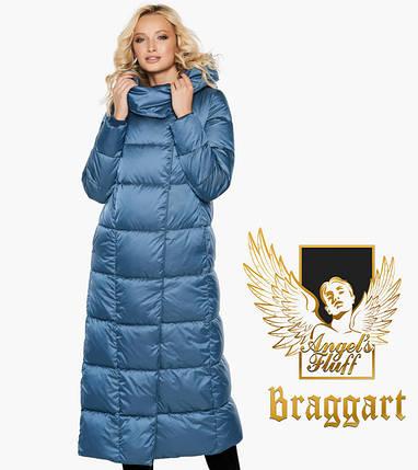Воздуховик Braggart Angel's Fluff 31056 | Зимняя женская куртка аквамариновая, фото 2