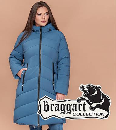 Braggart Youth 25015 | Утепленная женская куртка большого размера темно-голубая, фото 2