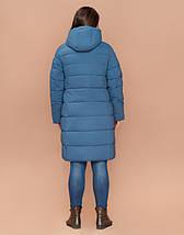 Braggart Youth 25015 | Утепленная женская куртка большого размера темно-голубая, фото 3