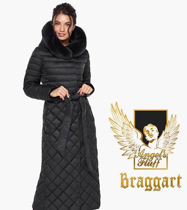 Воздуховик Braggart Angel's Fluff 31012 | Куртка женская на зиму черная, фото 2