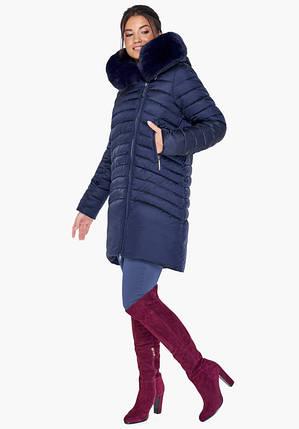Воздуховик Braggart Angel's Fluff 31038 | Куртка зимняя женская синяя, фото 2