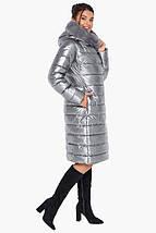 Воздуховик Braggart Angel's Fluff 31094 | Зимняя женская куртка серебро, фото 2