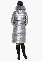 Воздуховик Braggart Angel's Fluff 31094 | Зимняя женская куртка серебро, фото 3