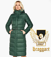 Воздуховик Braggart Angel's Fluff 31052 | Женская куртка на зиму нефритовая