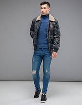 Braggart Youth | Куртка бомбер осенняя 38666 темно-серый, фото 2