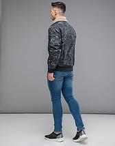 Braggart Youth | Куртка бомбер осенняя 38666 темно-серый, фото 3