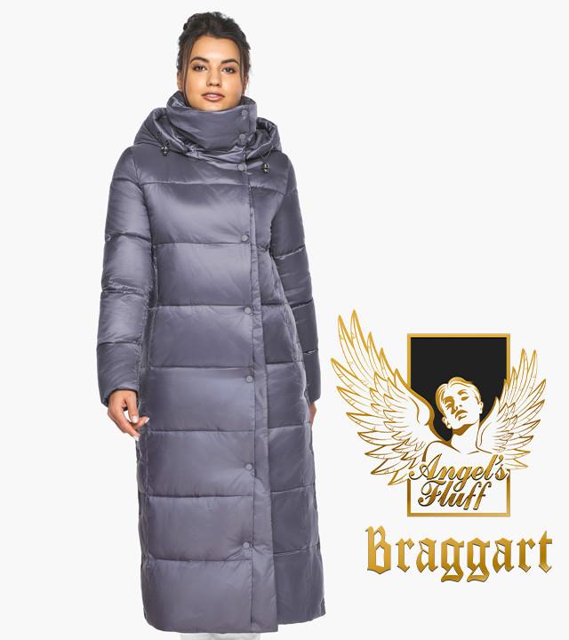 Воздуховик Braggart Angel's Fluff 41830  Теплая женская куртка жемчужно серая