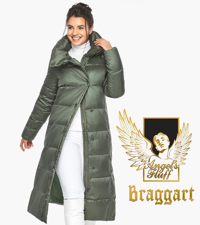 Воздуховик Braggart Angel's Fluff 41830| Женская курка оливкового цвета