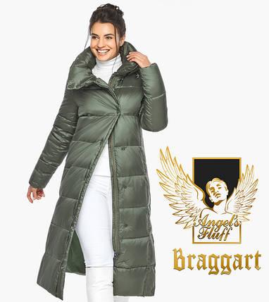 Воздуховик Braggart Angel's Fluff 41830| Женская курка оливкового цвета, фото 2