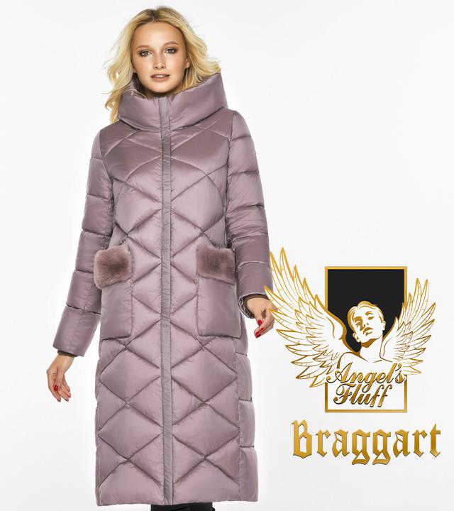 Воздуховик Braggart Angel's Fluff 45230  Зимняя теплая куртка пудровая