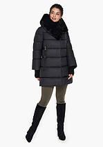 Воздуховик Braggart Angel's Fluff 31027  Теплая женская куртка черная, фото 3
