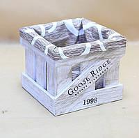 Ящик декоративный с чехлом ДЯМ-3 (малый, квадратный)