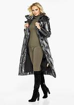 Воздуховик Braggart Angel's Fluff 42830  Зимняя женская куртка длинная цвет темное серебро, фото 2