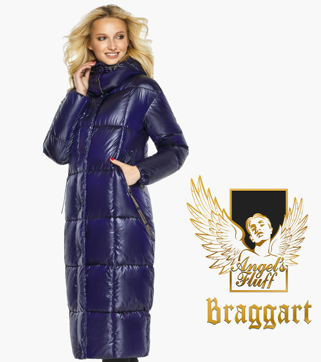 Воздуховик Braggart Angel's Fluff 42830| Зимняя куртка женская с карманами цвет синий бархат