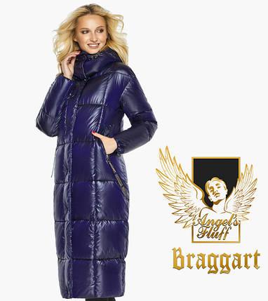 Воздуховик Braggart Angel's Fluff 42830| Зимняя куртка женская с карманами цвет синий бархат, фото 2