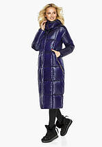 Воздуховик Braggart Angel's Fluff 42830| Зимняя куртка женская с карманами цвет синий бархат, фото 3