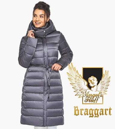 Воздуховик Braggart Angel's Fluff 44860| емчужно-серая куртка женская зимняя длинная, фото 2